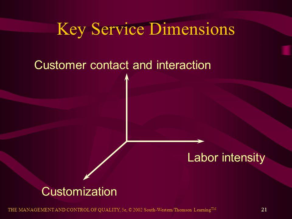 Key Service Dimensions