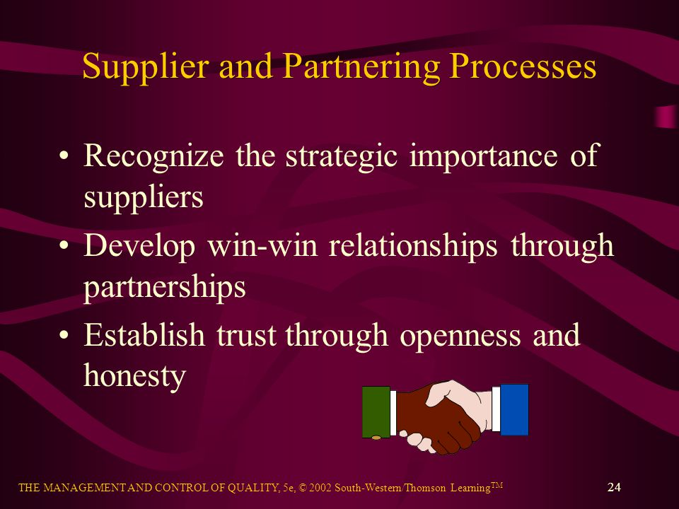 Supplier and Partnering Processes