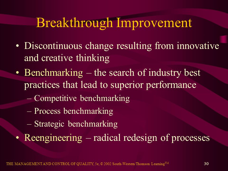 Breakthrough Improvement
