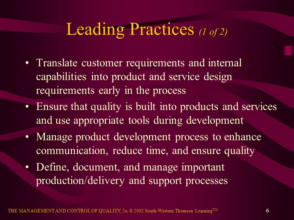 Leading Practices (1 of 2)