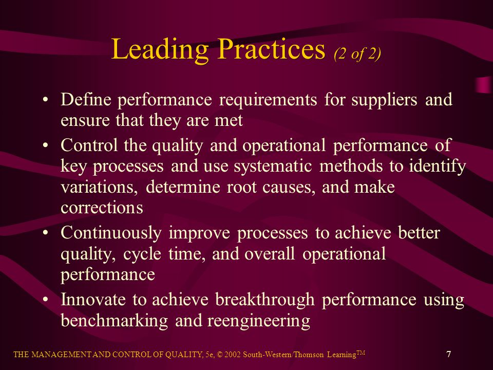 Leading Practices (2 of 2)