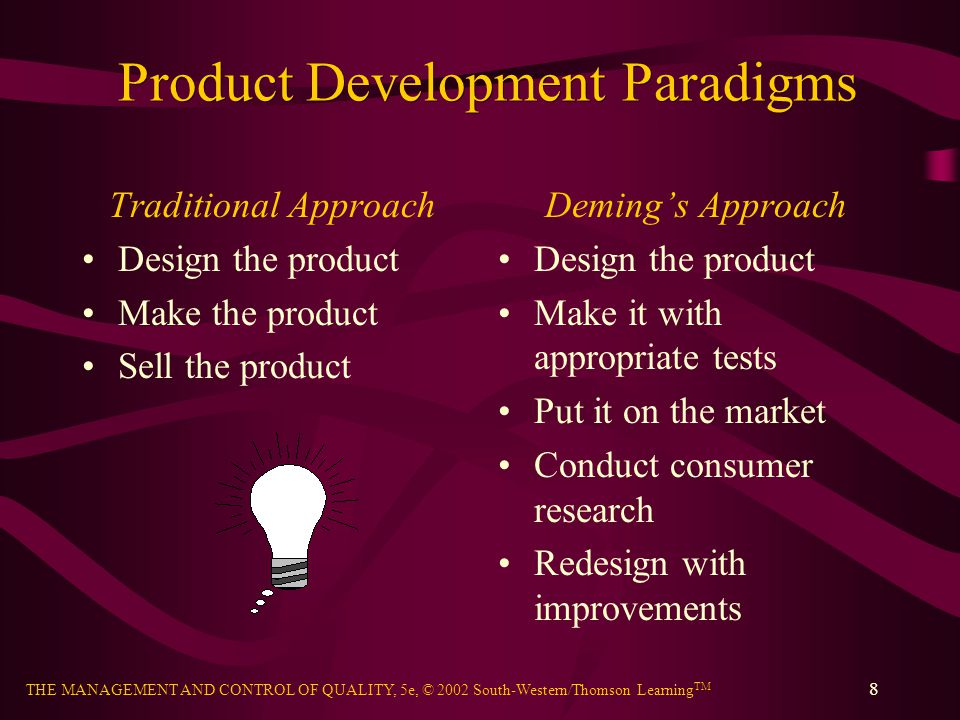 Product Development Paradigms