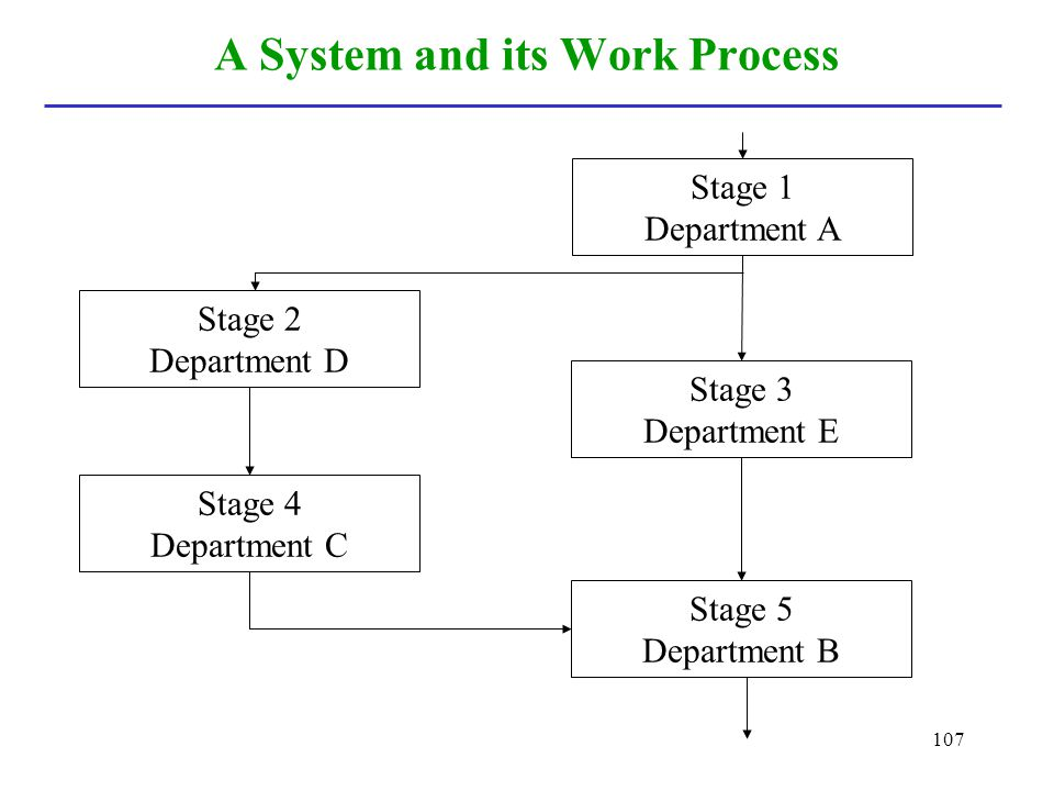 A System and its Work Process