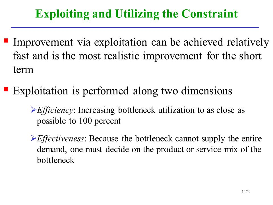 Exploiting and Utilizing the Constraint