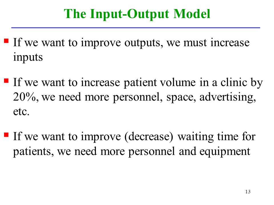 The Input-Output Model