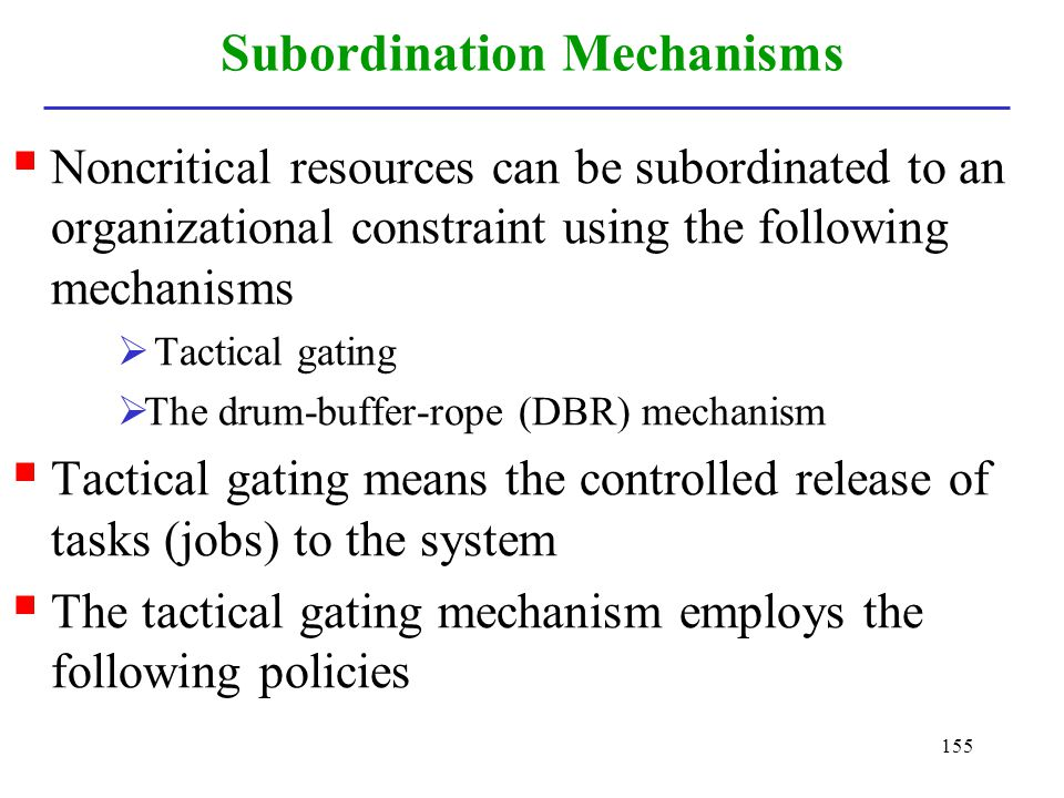 Subordination Mechanisms