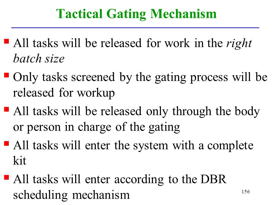 Tactical Gating Mechanism