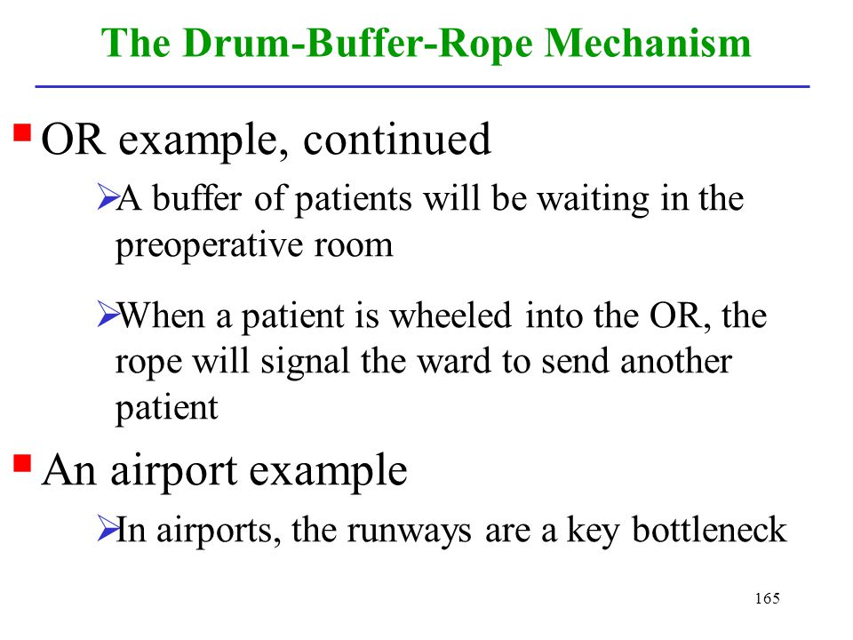 The Drum-Buffer-Rope Mechanism