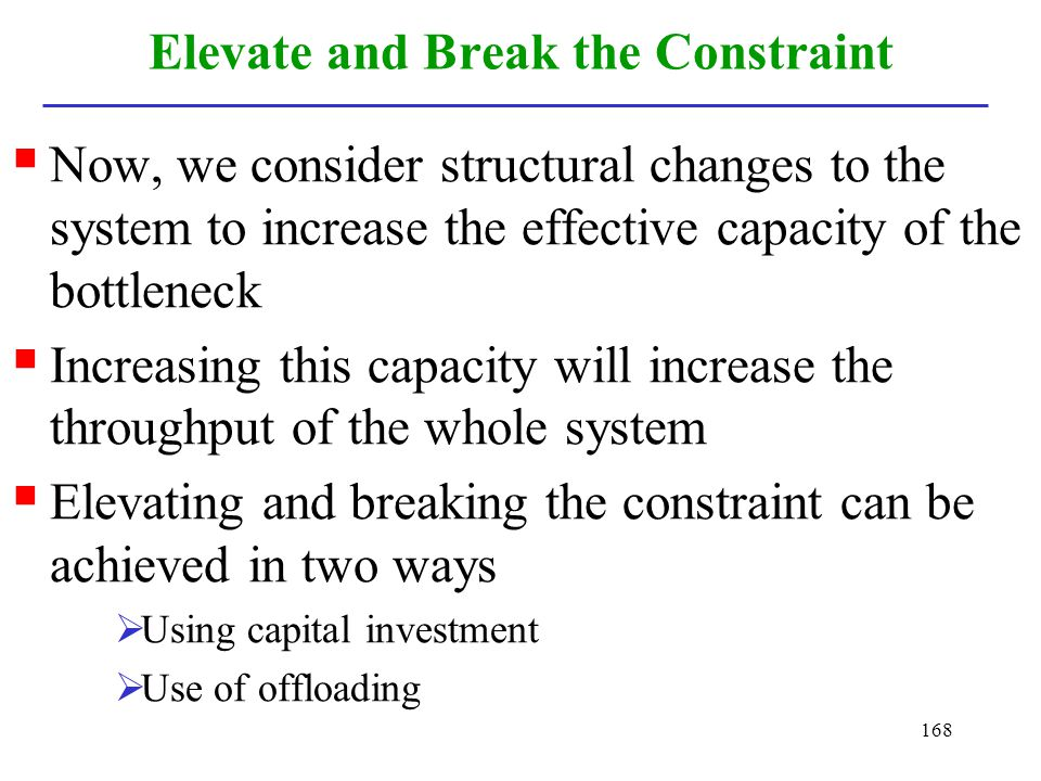 Elevate and Break the Constraint