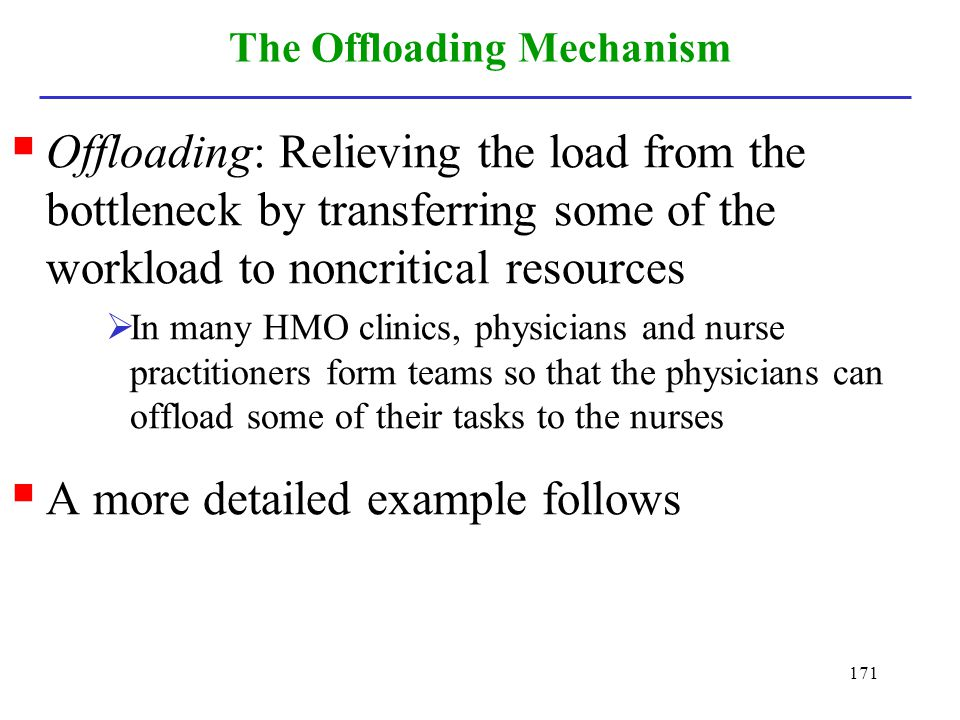The Offloading Mechanism