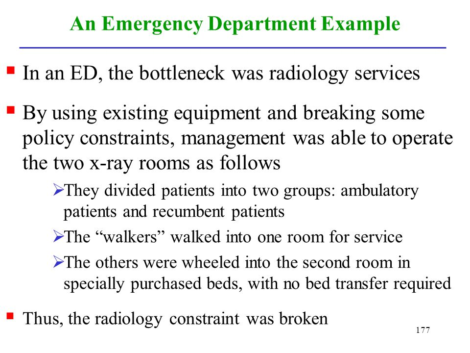 An Emergency Department Example