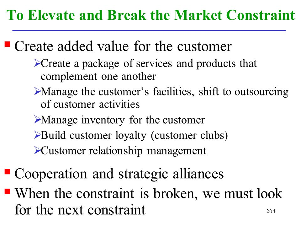 To Elevate and Break the Market Constraint