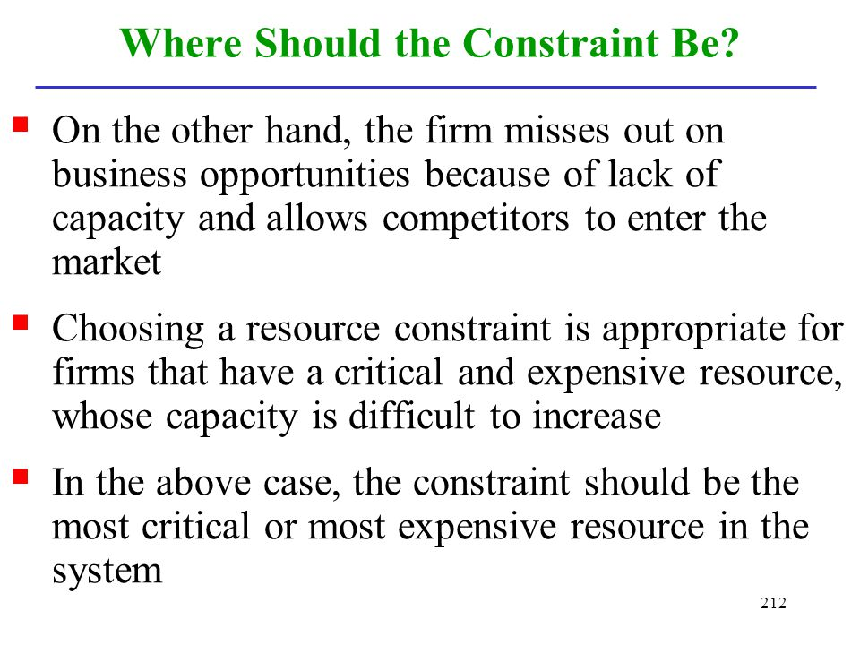 Where Should the Constraint Be