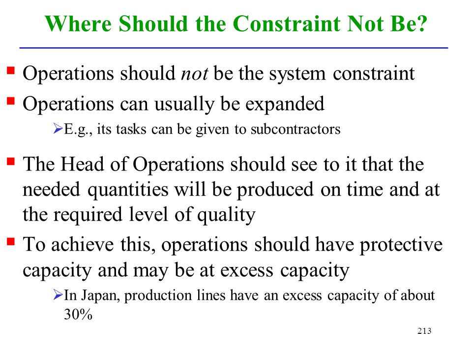 Where Should the Constraint Not Be