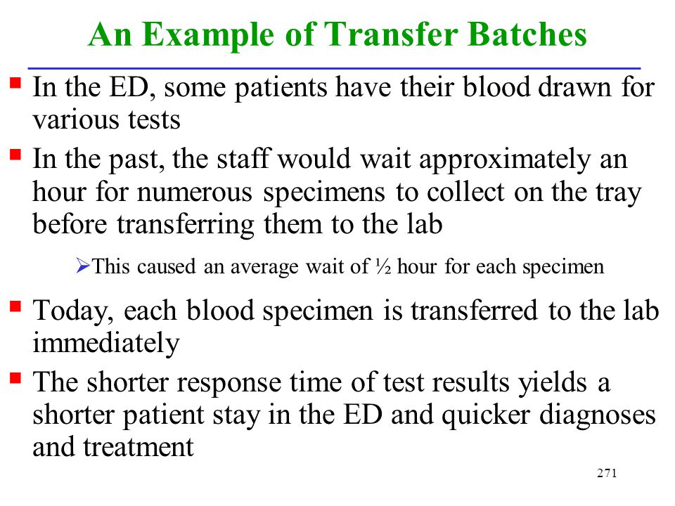 An Example of Transfer Batches