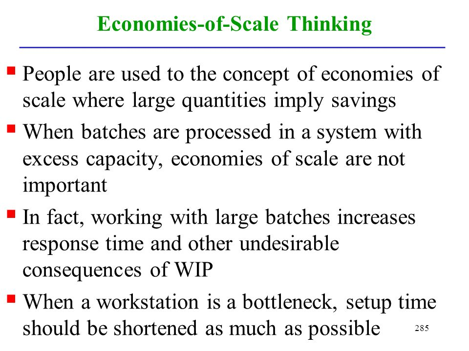 Economies-of-Scale Thinking