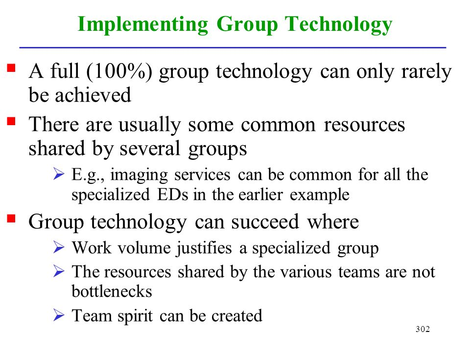 Implementing Group Technology