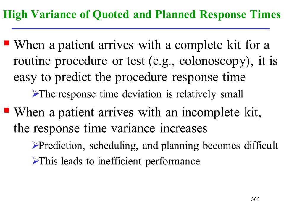 High Variance of Quoted and Planned Response Times