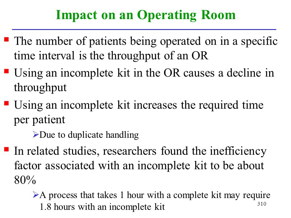 Impact on an Operating Room