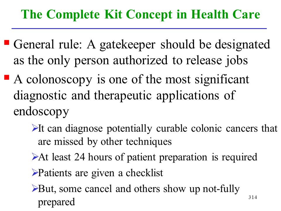 The Complete Kit Concept in Health Care