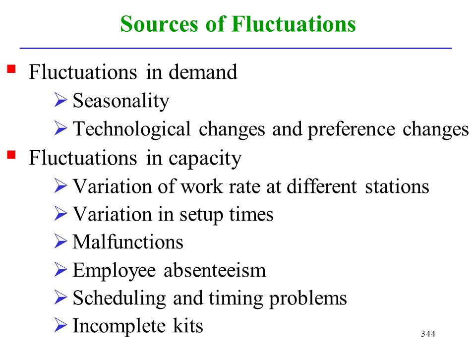 Sources of Fluctuations