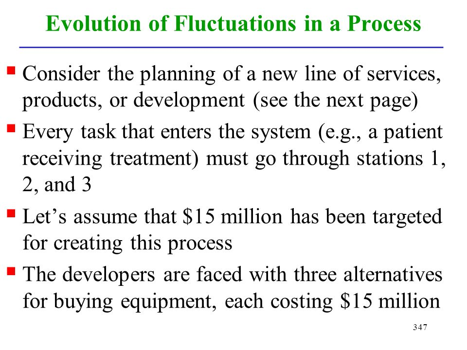 Evolution of Fluctuations in a Process