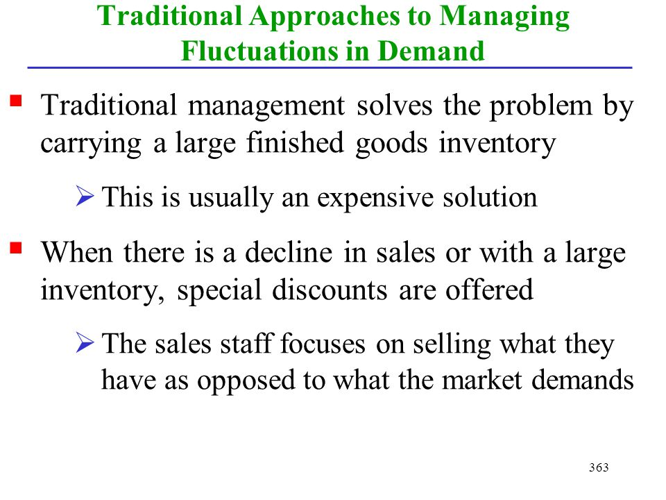 Traditional Approaches to Managing Fluctuations in Demand