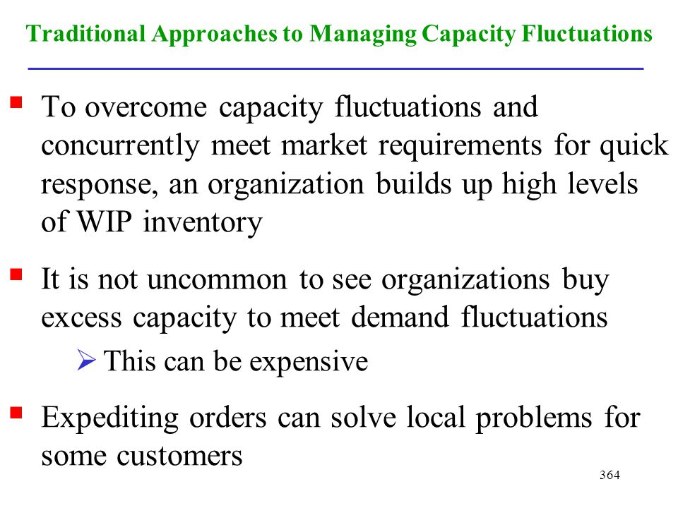 Traditional Approaches to Managing Capacity Fluctuations