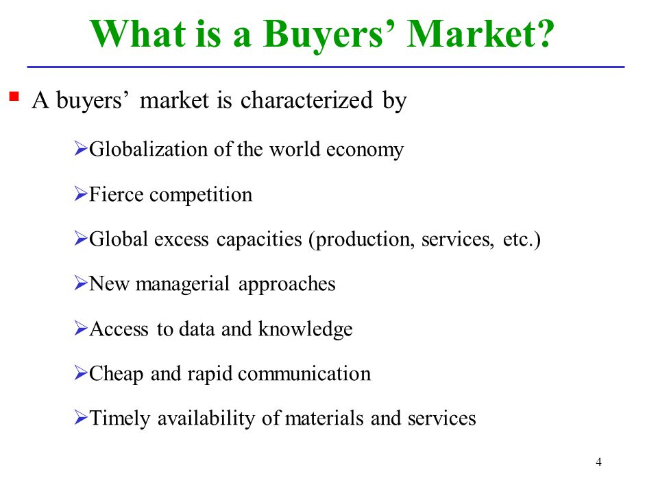 What is a Buyers' Market