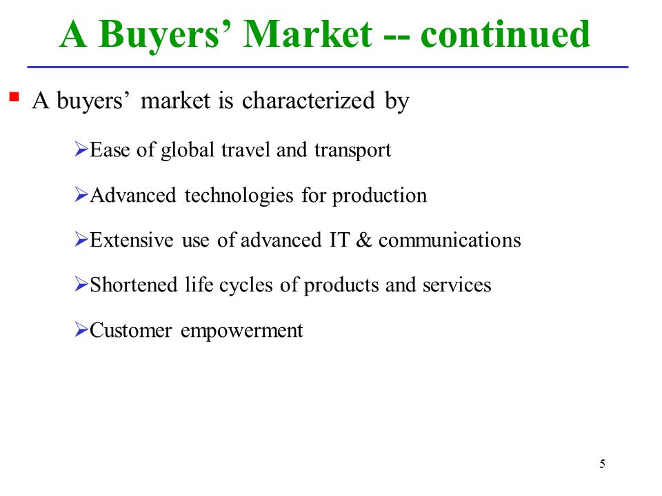 A Buyers' Market -- continued