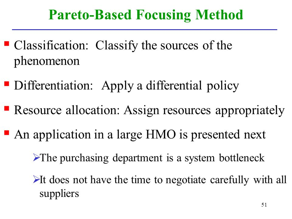 Pareto-Based Focusing Method