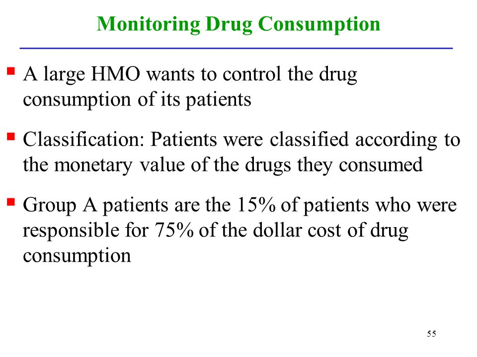 Monitoring Drug Consumption