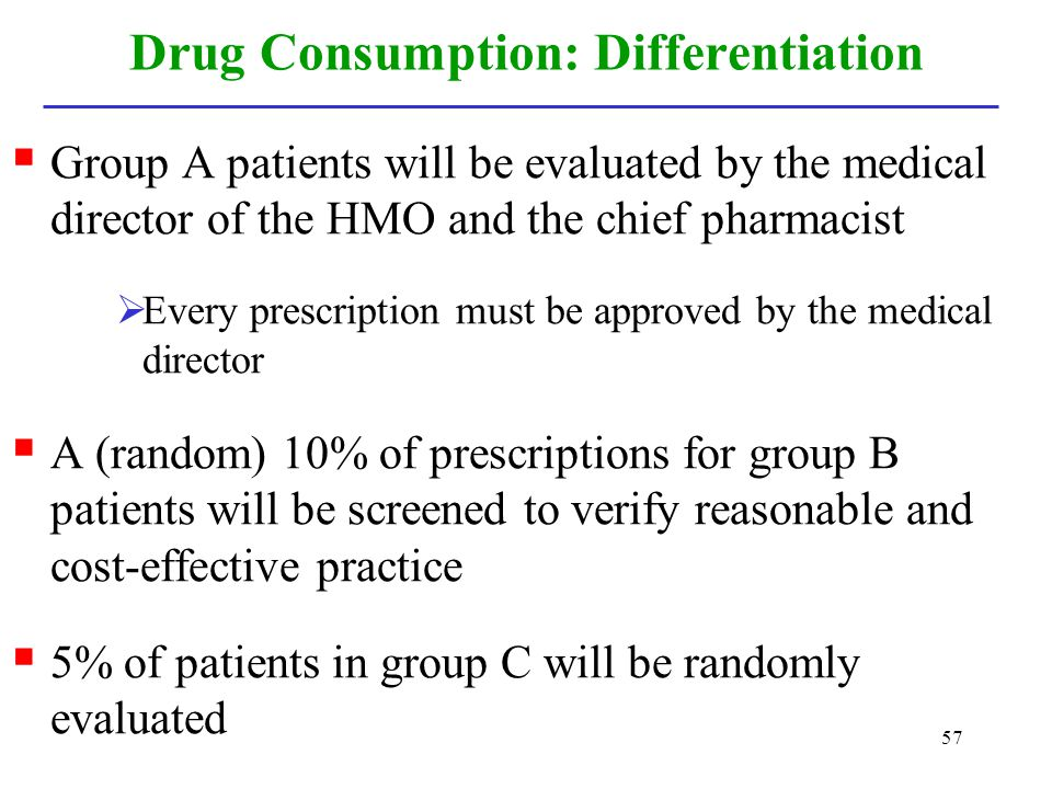 Drug Consumption: Differentiation