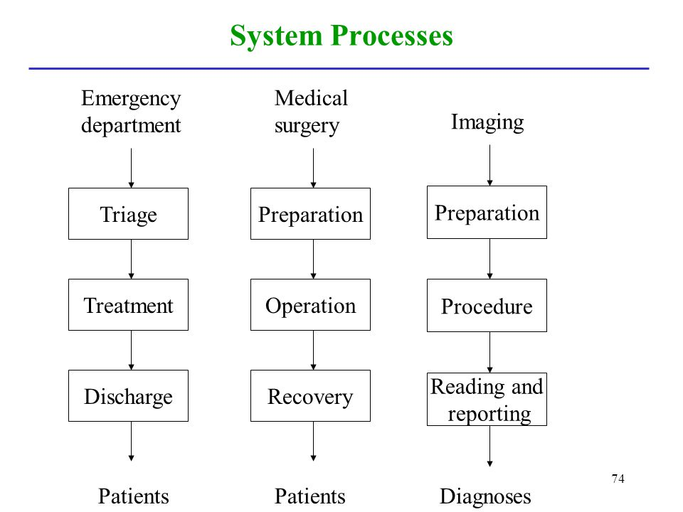 System Processes Emergency department Preparation Operation Medical