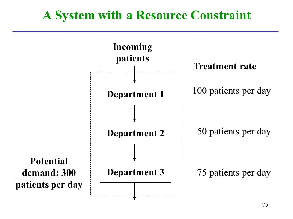 A System with a Resource Constraint