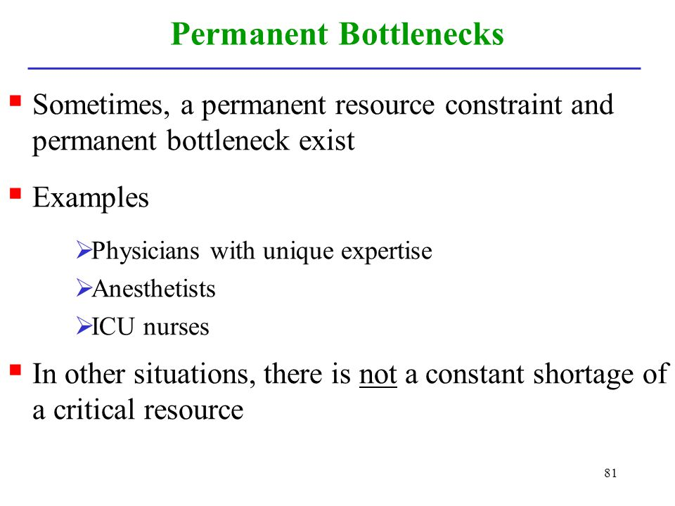 Permanent Bottlenecks