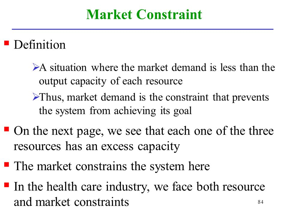 Market Constraint Definition