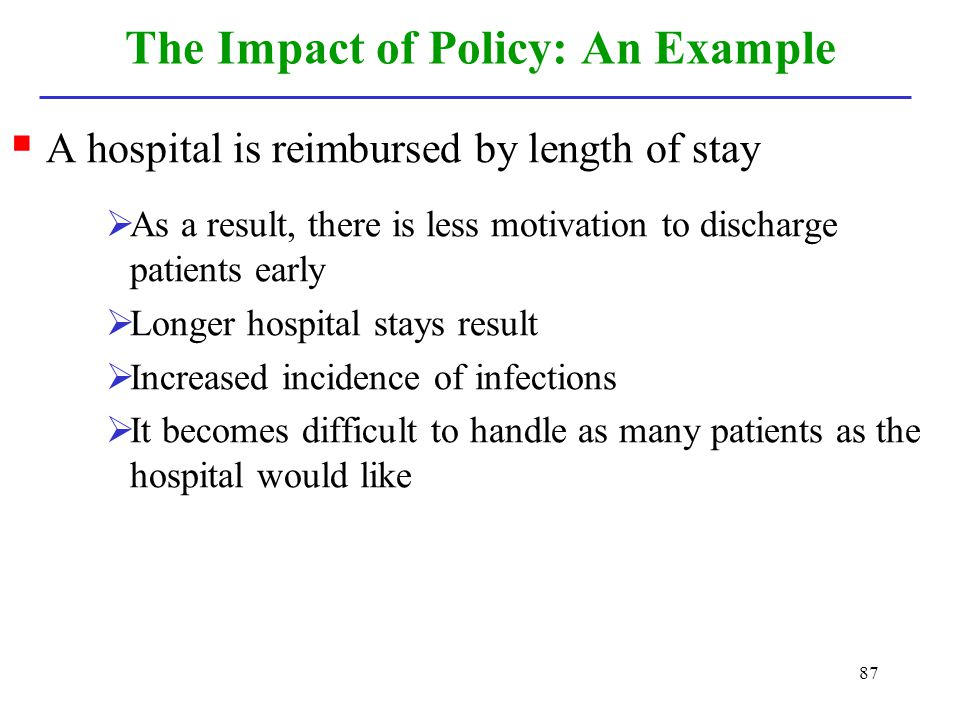 The Impact of Policy: An Example