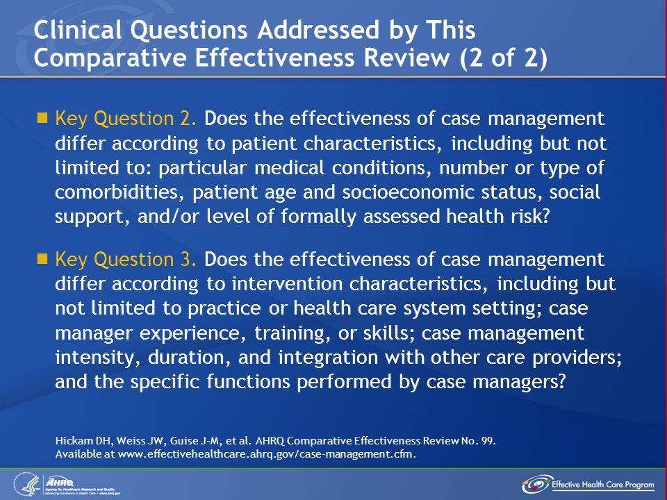 Clinical Questions Addressed by This Comparative Effectiveness Review (2 of 2)