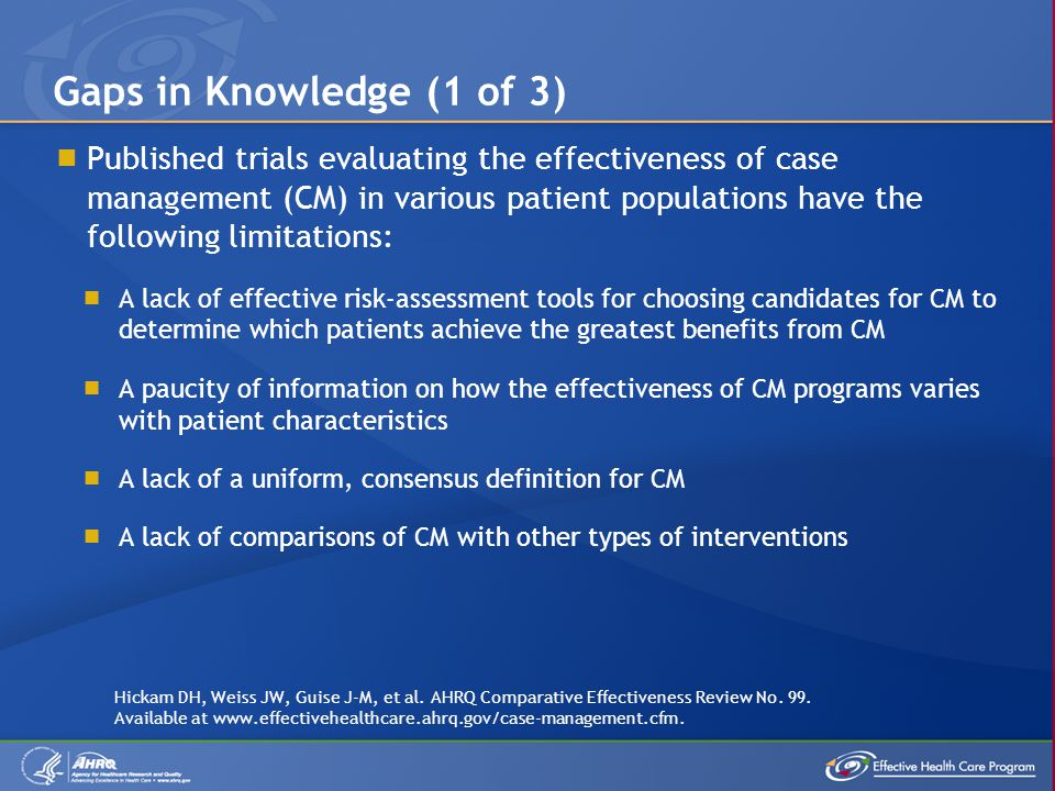 Gaps in Knowledge (1 of 3)
