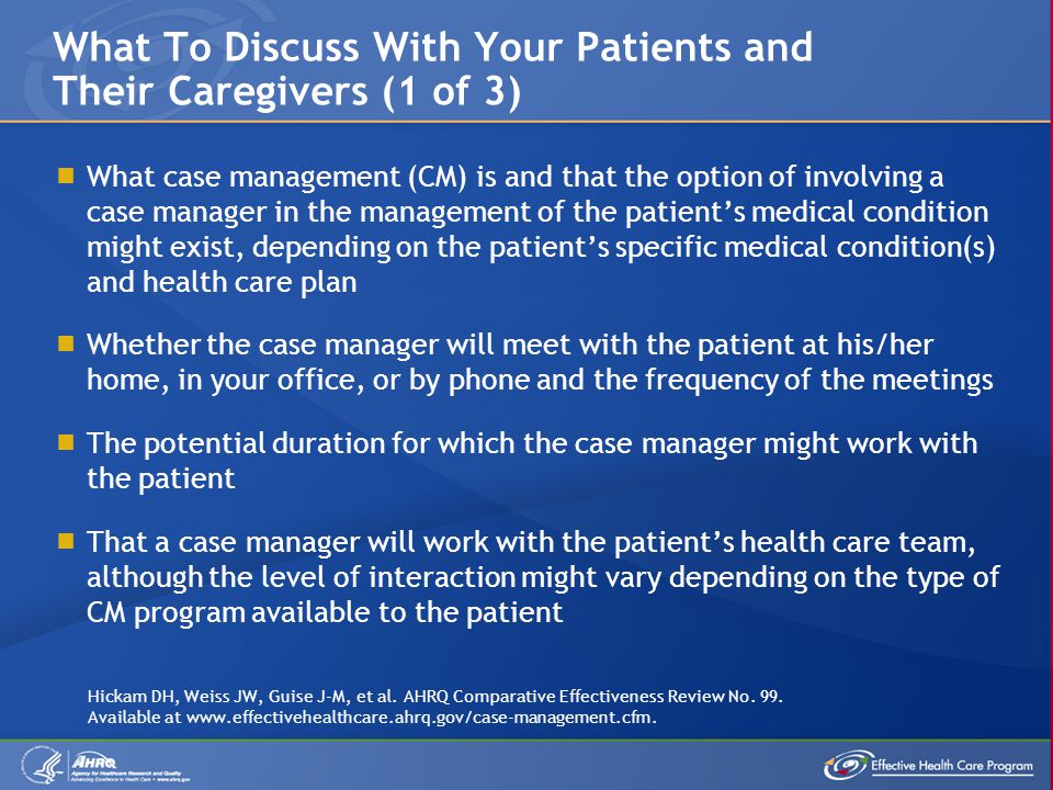 What To Discuss With Your Patients and Their Caregivers (1 of 3)