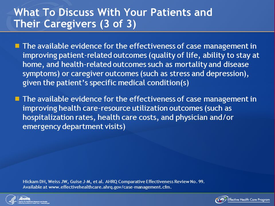 What To Discuss With Your Patients and Their Caregivers (3 of 3)