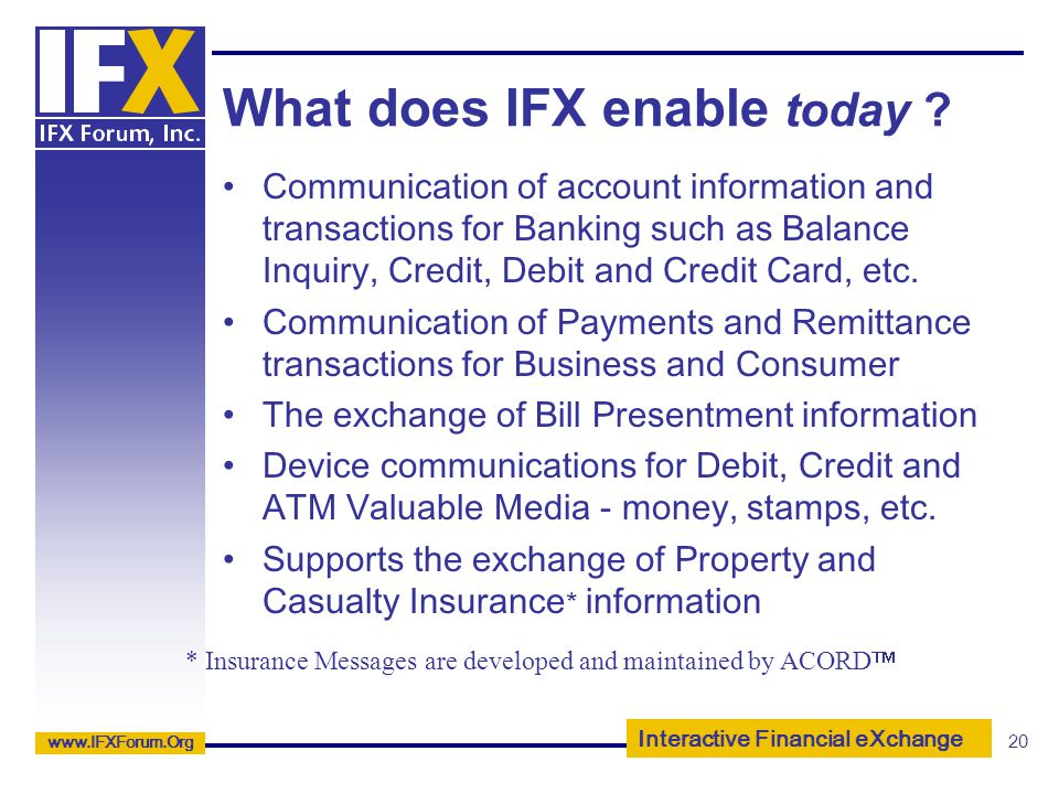 What does IFX enable today