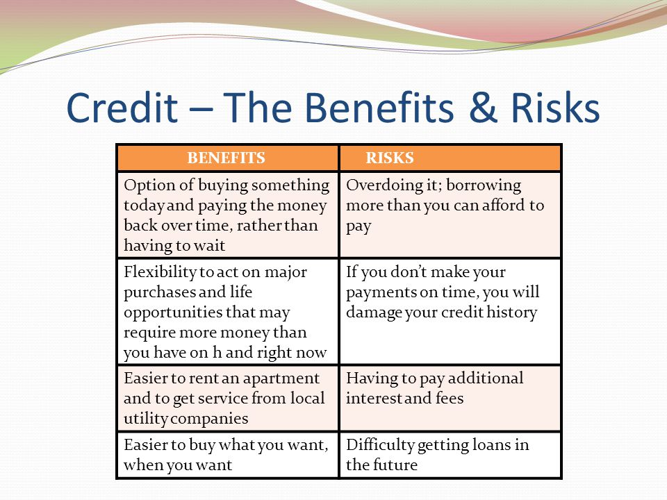 Credit – The Benefits & Risks