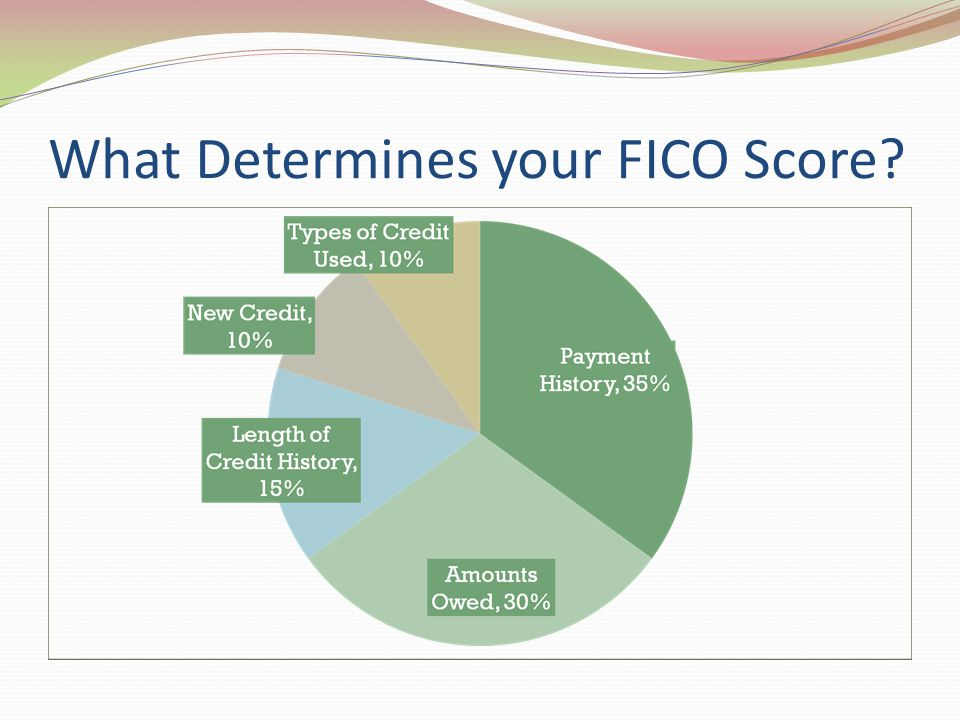 What Determines your FICO Score
