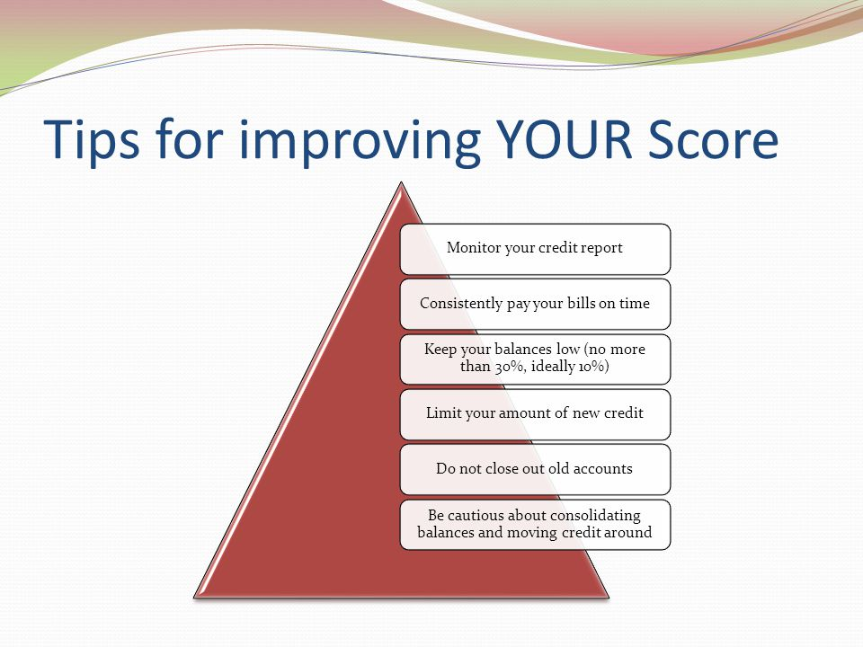 Tips for improving YOUR Score