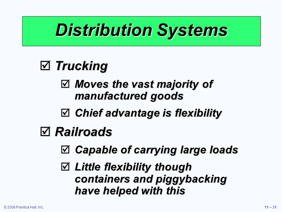 Distribution Systems Trucking Railroads