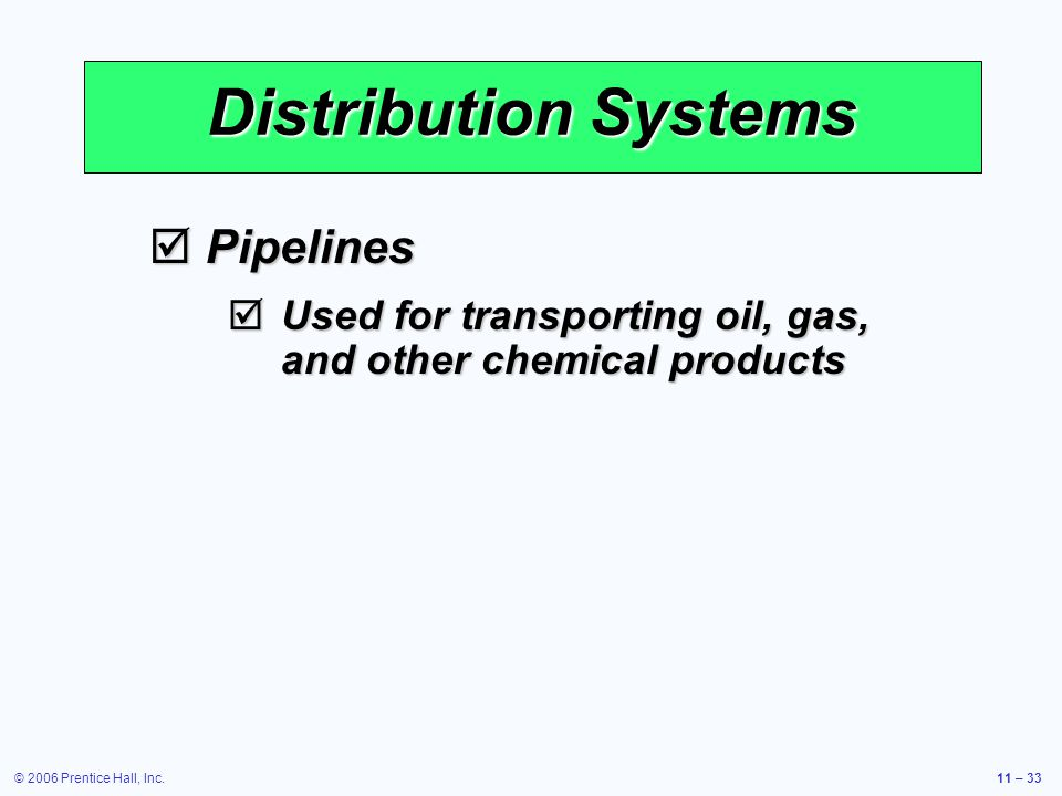 Distribution Systems Pipelines
