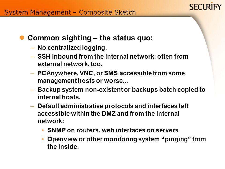 System Management – Composite Sketch