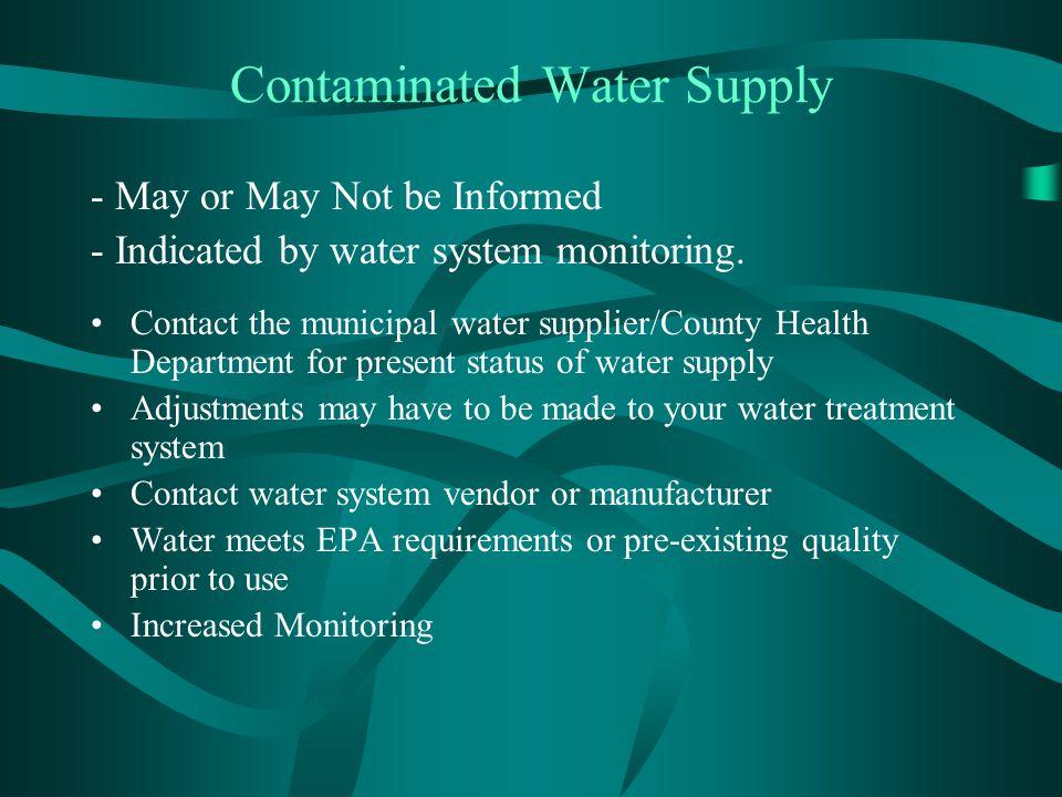 Contaminated Water Supply